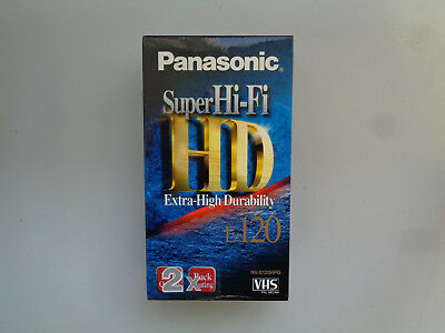 2-Pack Cassette Video Vierge PANASONIC HD E-120 pour Magnetoscope - K7 VHS Neuf