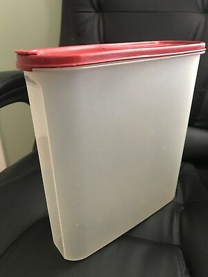 TUPPERWARE MODULAR MATES OVAL POUR-ALL CRANBERRY SEAL LIGHTLY USED 5lt