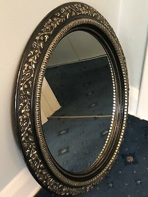 Vintage French Oval Mirror