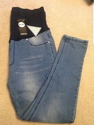 BOOHOO Maternity Over The Bump Skinny Jeans, Size 12, BNWT