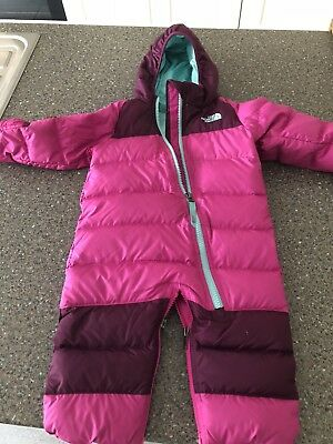 North Face Girls Baby Infant Pram Suit 3-6months