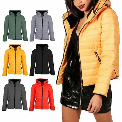 a66c48c1b20 New Womens Kids Ladies Quilted Padded Puffer Bubble Fur Collar Warm Jacket  Coat