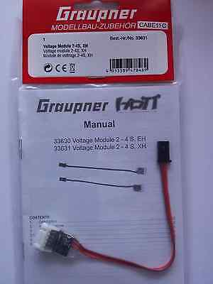 Voltage Module 2-4S,XH  HoTT(Original) Graupner 33631