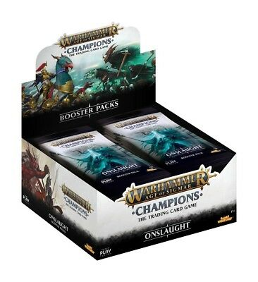Warhammer Age of Sigmar Champions Wave 2: Onslaught Booster Display (24) Preorde