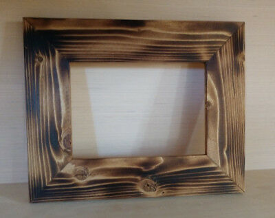 Rustic Wood Picture Frame Charred Wood - Shou Sugi Ban Style (All sizes)