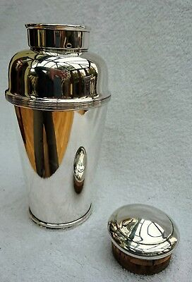 VINTAGE COCKTAIL SHAKER - Very rare Harrods large (2pint) silver plate c1930