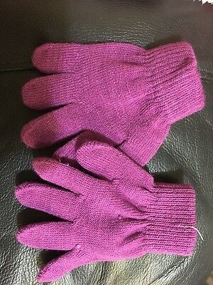 John Lewis Girls Gloves Size Small BNWOT Age 2-4 Years Purple