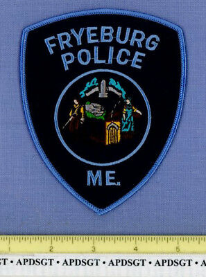 FRYEBURG MAINE Sheriff Police Patch COLONIAL MAN AND WOMAN
