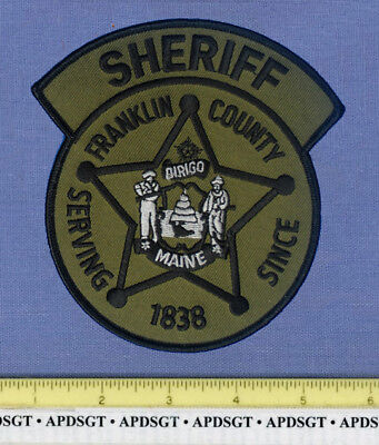 FRANKLIN COUNTY SHERIFF SWAT MAINE Police Patch STATE SEAL SUBDUED