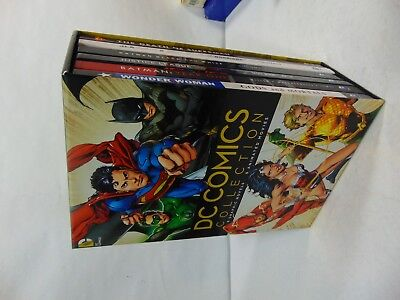 DC COMICS BOOK & DVD BLU RAY SLIPCASE HARDCOVER BOX SET Include 6 BOOKS & MOVIES