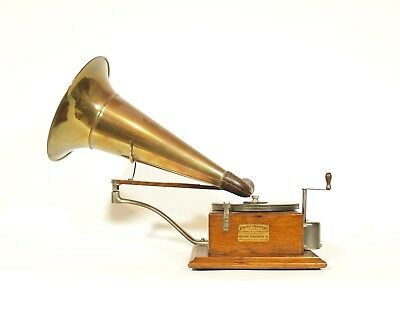 1899 Berliner Trademark Gramophone * No Repro Parts * Iconic Phonograph * Superb