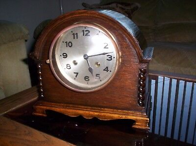 Wooden Shelf Mantle Clock Made In Germany for Parts or Repair