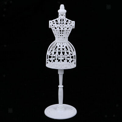 1:6 Doll Mannequin Model Display Gown Form Rack Stand Holder Doll Accs White