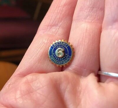 Rotary International 10k Vintage Blue Enamel Pin