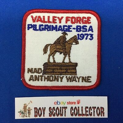 Boy Scout 1973 Valley Forge Pilgrimage Patch Mad Anthony Wayne