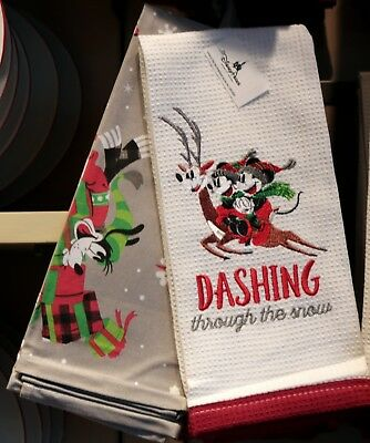 Mickey Nordic Winter Dish Towels Set of 2 Christmas Holidays 2018 Disney Parks