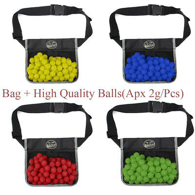 US 100pcs High Quality Bullet Balls / Bag For Nerf Rival Zeus Apollo Refill Kids