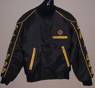 vintage SKI DOO BOMBARDIER BLACK  SNOWMOBILE JACKET Medium
