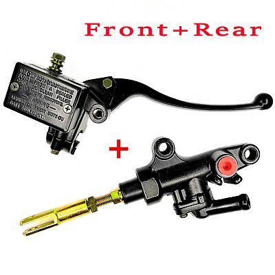 Front + Rear Brake Master Cylinder For YAMAHA Warrior YFM350X Banshee 350 YFZ350