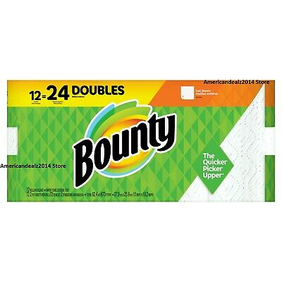 Bounty Paper Towels, FULL SHEETS, 12, 24 OR 36 Super Rolls - NEW-Fast Shipping