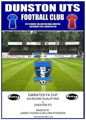 Dunston UTS v Chester FC, FA Cup 3rd Qualifying Round, 6th October 2018