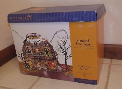 Dept 56 Snow Village Halloween Haunted Fun House in Box #56-55094 Repaired