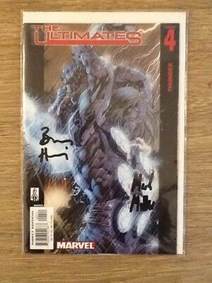 Marvel Comic The Ultimates Issue 4 Thunder Signed Mark Miller & Bryan Hitch