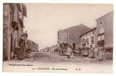 54-224 cpa Ecrouves rue faubourg