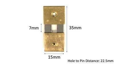 Brass Clock Pendulum Large Suspension Spring. (35mm x 7mm x 15mm) (Type A)