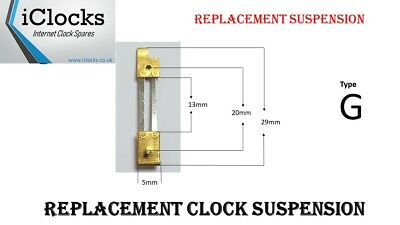 Brass Clock Pendulum Large Suspension Spring. (Type G) UK Seller