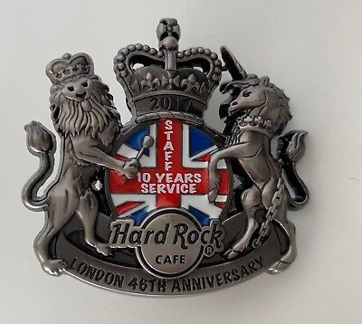 HARD ROCK CAFE LONDON 46th ANNIVERSARY STAFF PIN (SILVER)