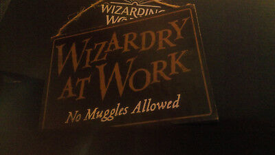 Double-sided Wizardry Sign Wizarding World Crate Harry Potter - Lootcrate