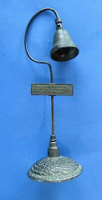Vintage Miniature El Camino Real Guide Post Mission Bell