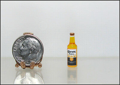 Dollhouse Miniature Handcrafted Corona Extra Beer Bottle