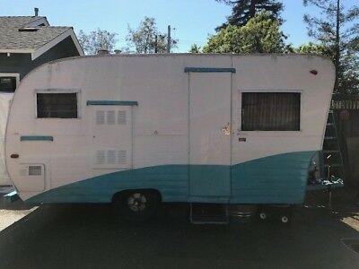 1960 Field and Stream  Travel Trailer Vintage Travel Trailer Camper RV Vintage