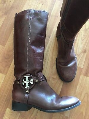 dd641713c68 TORY BURCH BROWN New in box Leather Knee High Boots Size 5.5 ...