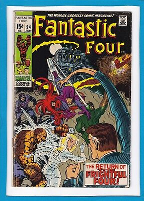 "Fantastic Four #94_January 1970_Vg_""return Of The Frightful 4""_Silver Age!"