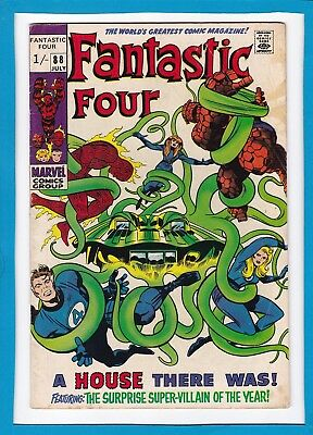 """Fantastic Four #88_July 1969_Vg+_Mole Man_""""a House There Was""""_Silver Age Uk!"""