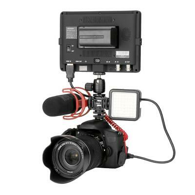 Ulanzi 3 Hot Shoe Mount Adapter Mic Mini LED Video Light for Digital DSLR Camera