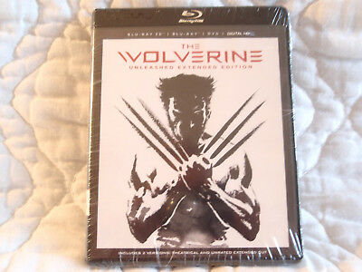 The Wolverine Unleashed Extended Edition Blu-Ray New 4-Disc Set 3D Hugh Jackman