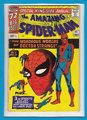 Amazing Spider-Man King-Size Annual #2_1965_Vg+_Wondrous Worlds Of Dr Strange!