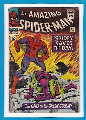 Amazing Spider-Man #40_May 1966_Very Good+_Green Goblin_Silver Age John Romita!