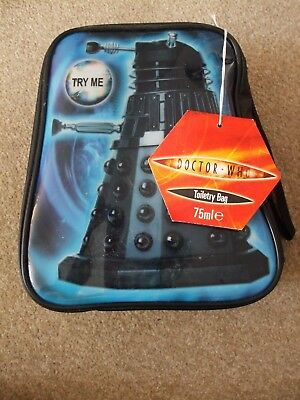 Ultra Rare New Sealed  Doctor Who Dalek Sound Chip Toiletry Bag