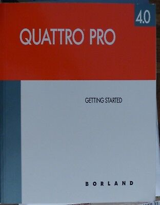 Quatro Pro spreadsheet by Borlund for DOS on 5.25 inch floppies