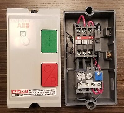 ABB Motor Starter Box - Brand New, Contactor + Overload Rated 5 Hp @ 480V