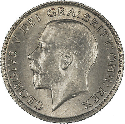 Great Britain 1922 6 Pence LIGHTLY TONED UNC
