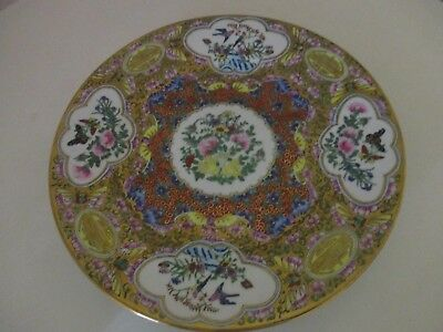 Beautiful Chinese export Hand Painted Plate