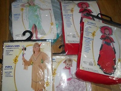 JOB LOT Fancy Dress Outfits 5 costumes girls new, smiffy
