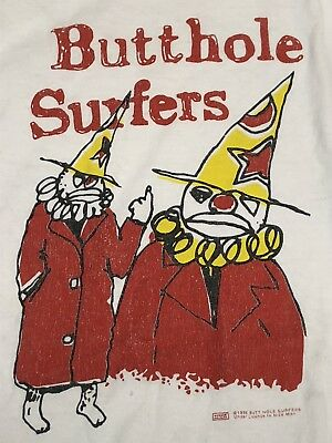 VINTAGE BUTTHOLE SURFERS Clown Tee 1996 Tour XL Shirt T-shirt tee ...