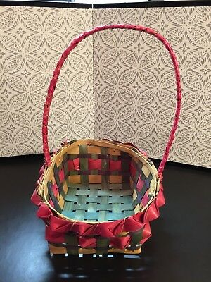 5 Vintage Easter Baskets Made in Japan Circa 1940's -50's.